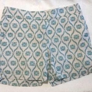 Ann Taylor Loft Embroidered Linen Short Shorts